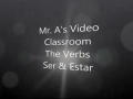 Verbs ser and estar