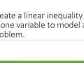 Writing a Linear Inequality in One Variable