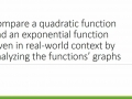 Compare a quadratic function and an exponential function given in real-world context