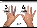 Learn your 9 times table fast using your fingers! (W5)