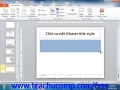 PowerPoint 2010 Tutorial Using Slide Masters and Slide Layouts (Wk-1)