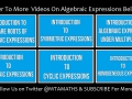 Introduction - How To Solve Algebraic Expressions Under Addition And Subtraction