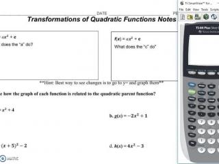 Parameter Changes of Quadratics