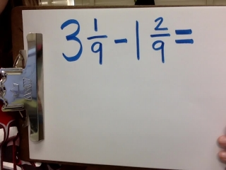 Mixed Number Subtraction