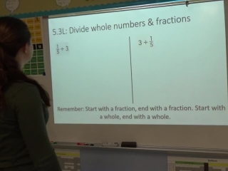 5.3L Divide Whole Numbers and Fractions