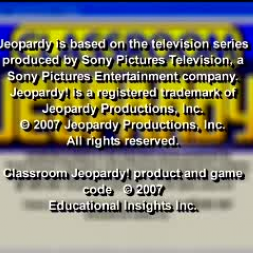 Examples Of Jeopardy Categories: Classroom Jeopardy!