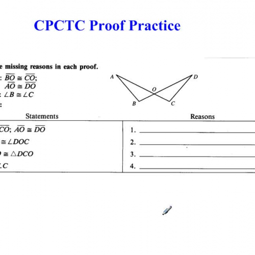 Cpctc Proof Practice 59972 on My Grade Science