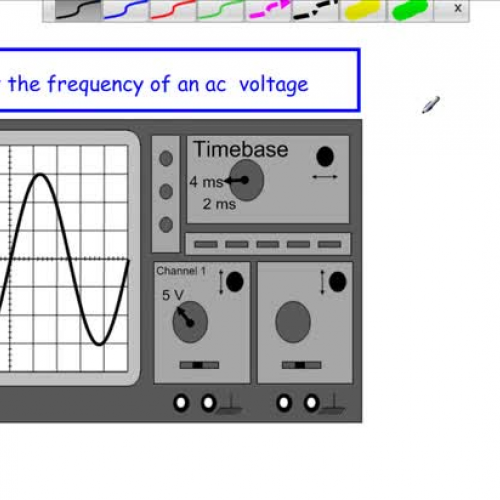 Frequency Of Ac : Measuring ac frequency from an oscilloscope