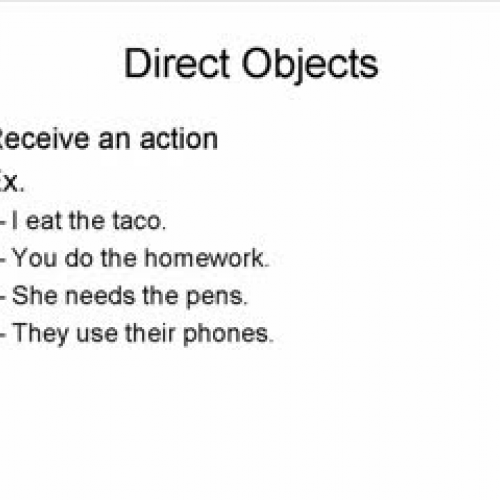 InDirect Object Pronouns – Direct and Indirect Object Pronouns Spanish Worksheets