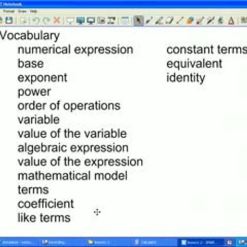 algebraic expressions and models