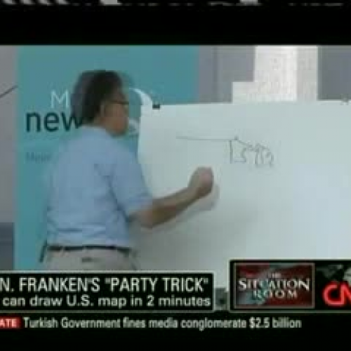 SEN AL FRANKEN DRAWS MAP OF THE USA IN MIN TeacherTube - Al franken draws us map