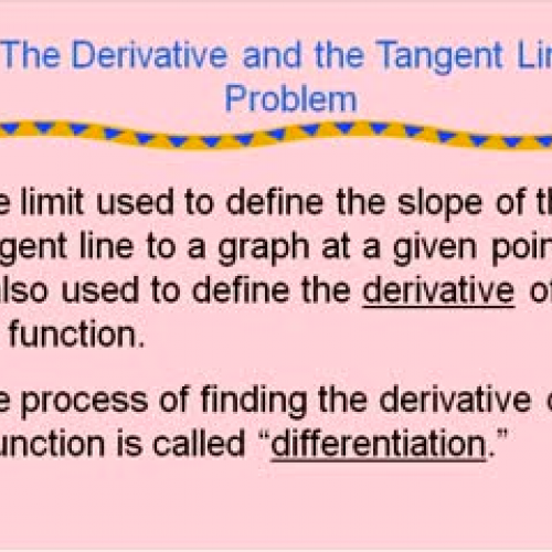 how to find tangent line derivative