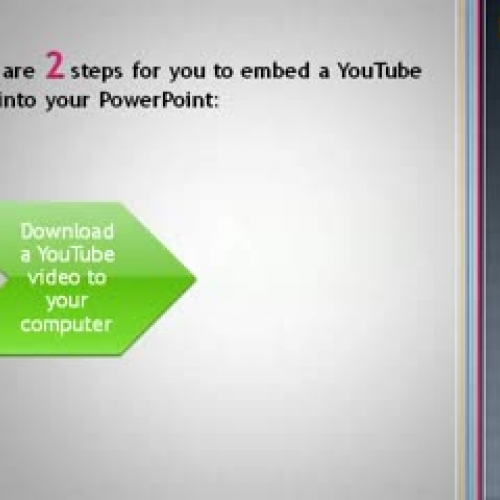 how to download a youtube video and embed in powerpoint