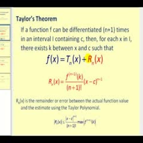 taylors theorem Taylors theorem video tutorial, prof swagato k ray shobha madan p shunmugaraj you can download video lessons to watch them offline.