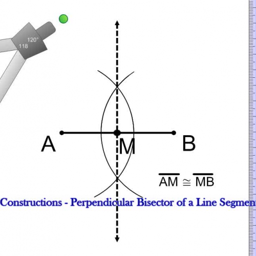 how to find perpendicular bisector