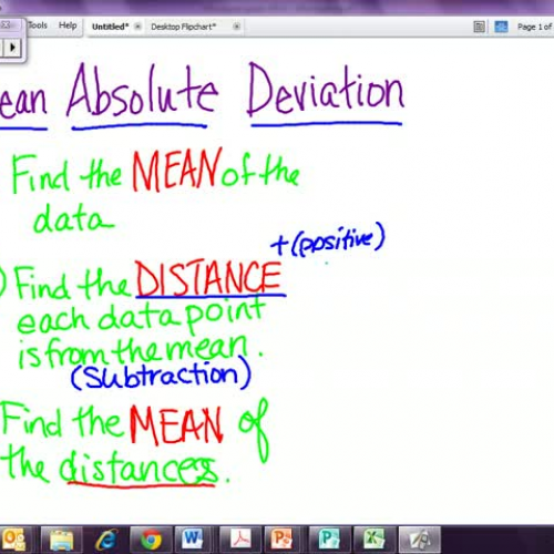 how to find mean absolute deviation