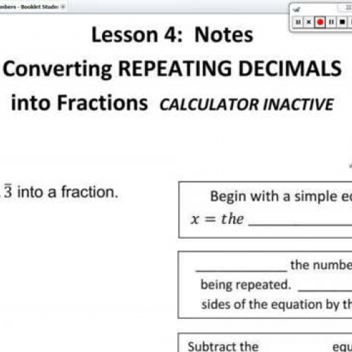 how to put repeating decimals into fractions