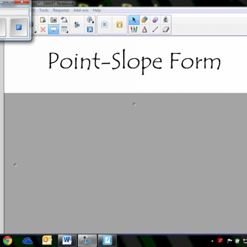 how to solve point slope form