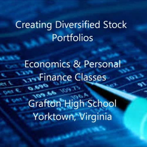 diversification in stock portfolio Diversification is the practice of spreading your investments around so that your exposure to any one type of asset is limited this practice is designed to help reduce the volatility of your portfolio over time one of the keys to successful investing is learning how to balance your comfort level.