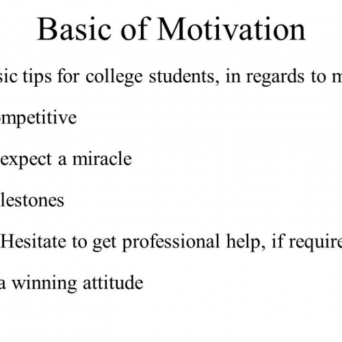 motivation tips for college students The reason that certain students excel in college while others flounder might relate back to their motivations for attending in the first place, according to a study conducted by two members of the american counseling association.