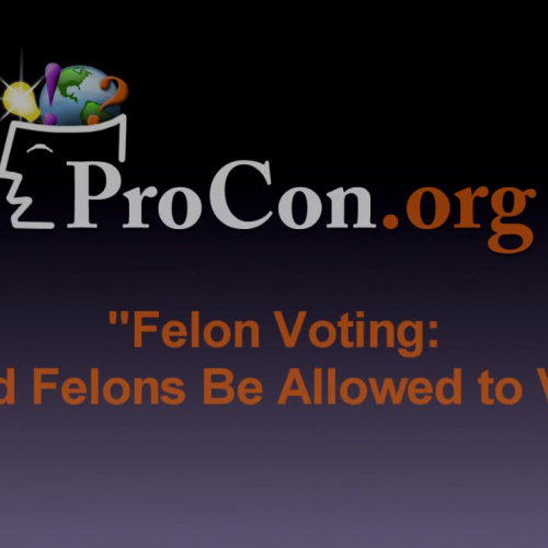 convicted felons should not be allowed Promotes the idea that convicted prisoners should be allowed to vote felons should not be allowed to vote and it should prisoners be given the right to.