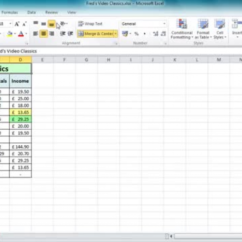 Excel 2010 Tutorial For Beginners  10