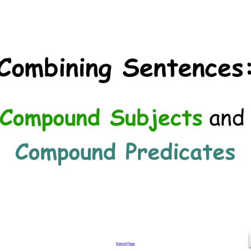 compound subjects and predicates Compound subjects and predicates (grade find this pin and more on school by jess062213 reinforce grammar skills and get ready for the standardized tests includes two practice pages plus an.