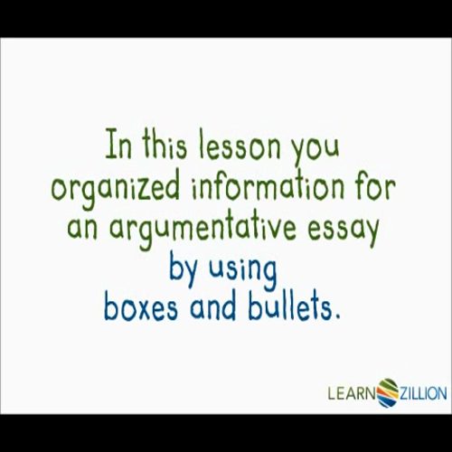 organize information in essay