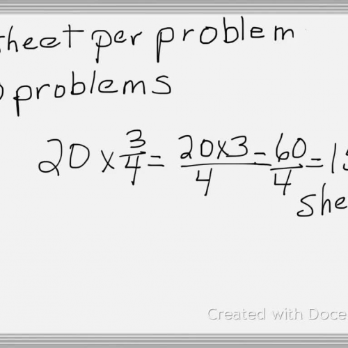 multiplying a fractions by a whole number using symbols
