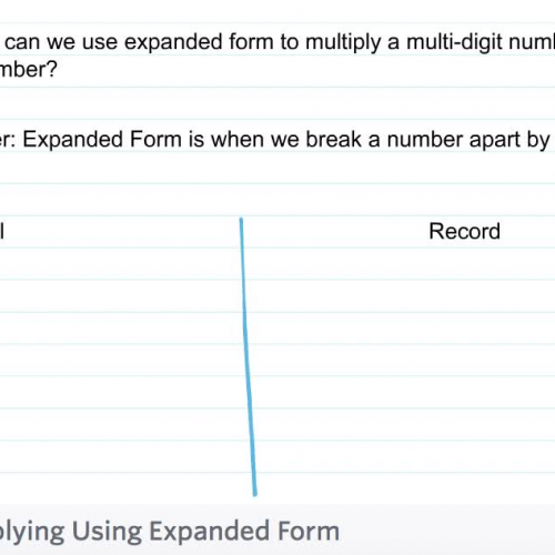 Fourth Grade Lesson 26 Multiplying Using Expanded Form – Expanded Form Multiplication Worksheets