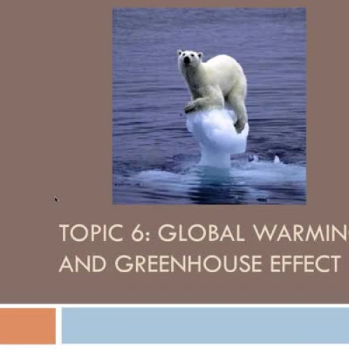 the topic of global warming