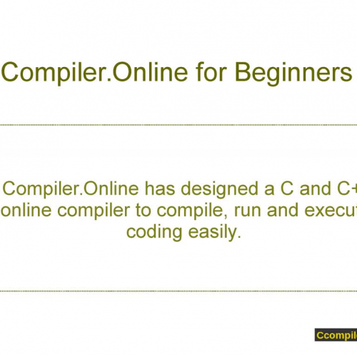 Compile And Run Using Ccompiler Online: online c compiler and run with input