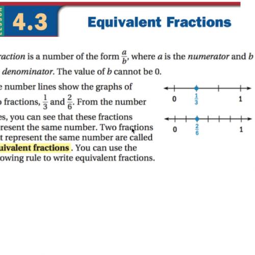 Lesson 4.3 Equivalent Fractions (prealgebra
