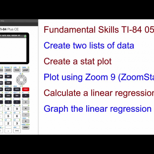 how to find linear regression on ti 84