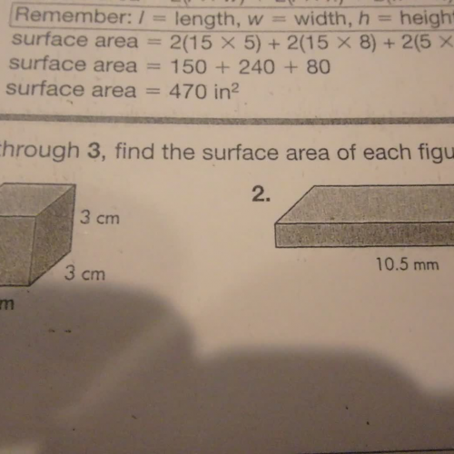 how to get surface area of cube