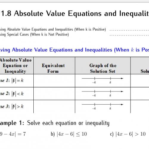 College algebra math equations