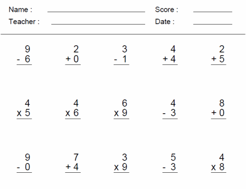 3rd Grade Math Worksheets – 4th Grade Math Worksheets with Answer Key