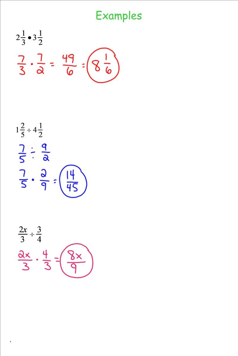 7th Grade Math and Division Worksheets – Unit Rate Worksheets