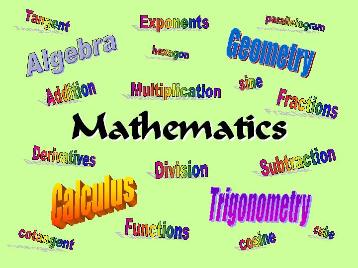 What are some mathematical terms that mean opposite of