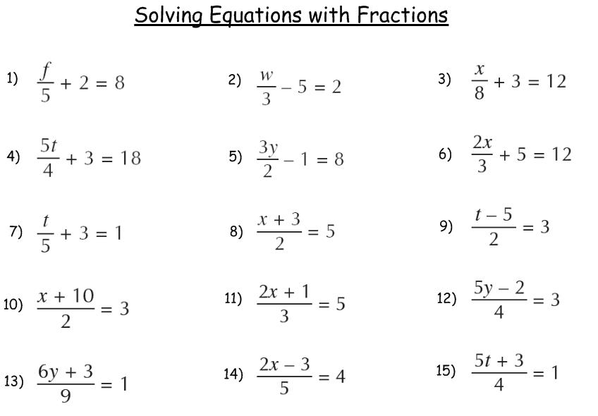 Algebra Problems and Worksheets – Algebra I Worksheets